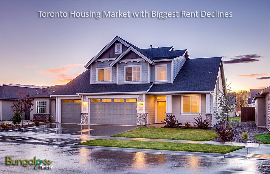 Rent in Toronto on the declining trend